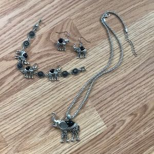 Elephant jewelry set—never used